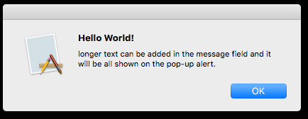 Display notification from the Mac command line