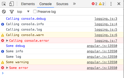 Logging in AngularJS