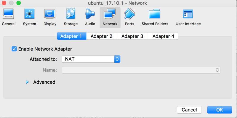 VirtualBox host-only network - ssh to remote machine